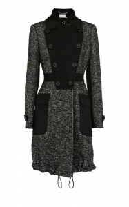 China Karen Millen Tweed fabric mix coat on sale