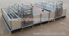 China PVC Rail Elevated Double Farrowing Crate for Pigs on sale