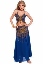 China Blue Butterfly Harem Girl Belly Dancer Costume on sale