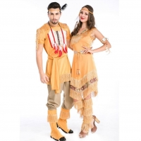 China Native American Sex Games Fancy Dress Couple Vintage Satin on sale