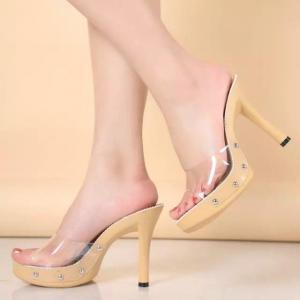 China Non Slip Rubber Sole Sandals Stilettos Walking Macrame on sale