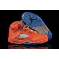 Air Jordan 5 Orange Blue Grey Mens Buy Shoes Online
