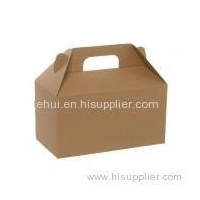 Gable Box Flat packed Medium Brown PAPER GIFT PACKAGING BOX