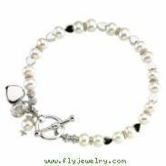 China Sterling Silver Friendship Bracelet With Pearls on sale