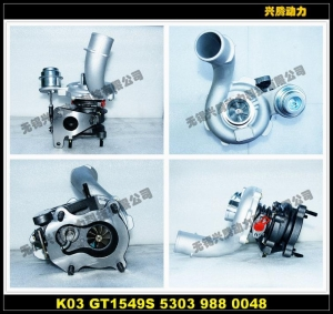 China Turbocharger Brands K03 5303 988 0048 for Mitsubishi/Opel/Renault/Volvo on sale