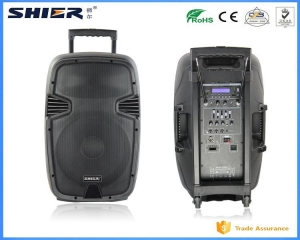 China EQ Wireless Bluetooth Waterproof Subwoofer Active Speaker With Trolley 12 Inch 80W on sale