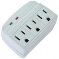 China LA-3S 3 outlets surge protected current tap with indicators on sale