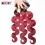 China Msbeauty Grade 7A color 2T ombre human Hair Extension1B/red#bodywave Remy Brazilian Human Hair Wefts on sale