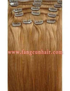 China Clips in European hair extension on sale
