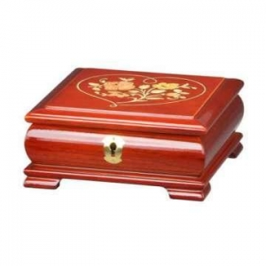 China Glossy Lacquer Wooden Jewelry Music Box with Lock on sale