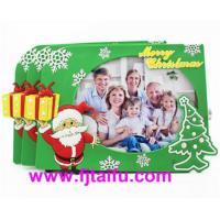 custom santa claus pvc photo picture frame for christmas souvenir