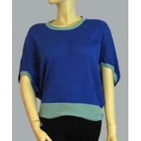 China Lady crew neck dolman sweater on sale