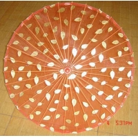 China Parasols RH-GPS03 Glitter-printed silk parasol on sale