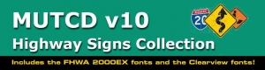 China MUTCD v10 Highway Signs Collection on sale
