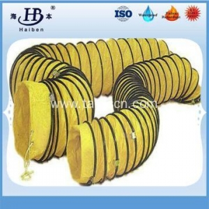 China Insulated flexible pvc duct hose for mechanical ventilation on sale