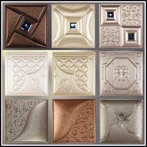 China 3D Leather Wall Panel on sale