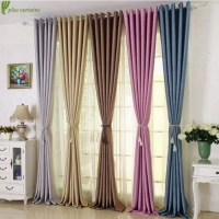 Embossed Chenille Blackout Insulated Thermal Curtain Panel Drapes