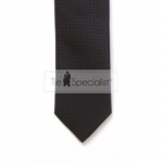 Black Textured Skinny Tie #C003/1