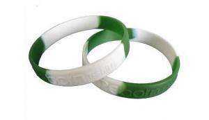 China Segmented Silicone Wristbands on sale
