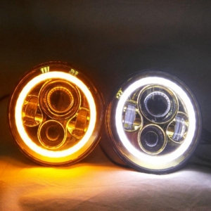 China 7 Inch Round Headlights with Halo LED on sale
