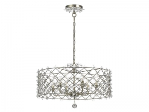 China Wrought Iron Chandelier with Crystal Accent CY-449-SA on sale