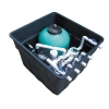 China Degaulle FX18 swimming pool equipment underground filter with sand filter for sale
