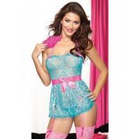 Turquoise Babydoll And Panty SetW386596