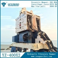 YZ-400 Powerful Hydraulic Vibratory Piling Hammers for Foundation works