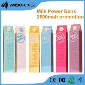 China Trending High Quality Creative 2600mah Milk Style Power Bank on sale