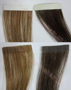 China Luxurious Human Skin Weft tape hair extensions remy hair extensions tape in on sale