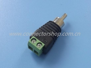 China RCA-011RCA Plug with Terminal Block RCA Connector & Adapter on sale