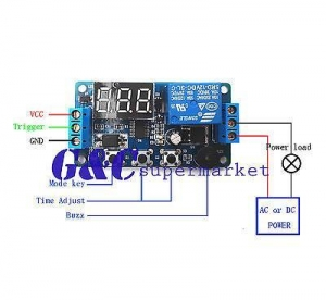China 12V Programmable timer relay module Delay Timer Control Switch with LED on sale