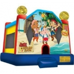 Jake and the Never Land Pirates Jump Bounce House Ships within 24-72 hours via Freight Truck