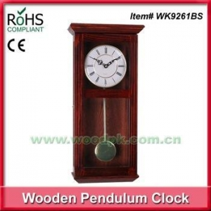 China Olive wooden clock wedding gift clock decoration wall clock pendulum 2016 new on sale