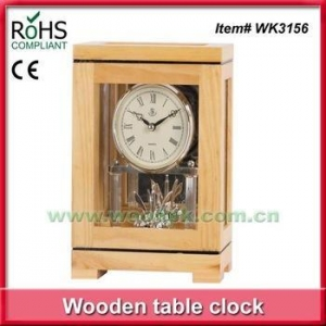 China Woodpecker wooden pendulum clock quartz table watch antique desk clock on sale