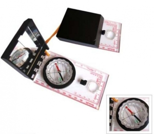 China 2 in 1 Mini Compass with Map Measuring Ruler Lanyard Emergency Survival Tool on sale