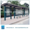 China Modern Street Furniture Solar Power Bus Stop Shelter for sale