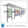 China Automatic Street Light Control Light Steel Frame Solar Lighting Light Box Sign Bus Shelter for sale