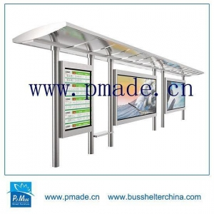 China Automatic Street Light Control Light Steel Frame Solar Lighting Light Box Sign Bus Shelter on sale