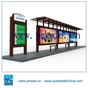 China Customized Bus Shelter-Street Furniture Bus Shelter-Advertising Bus Shelter on sale