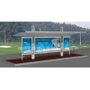 China Aluminum Bus Shelter Without Seats for sale