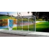 China Aluminum Bus Shelter With Seats for sale