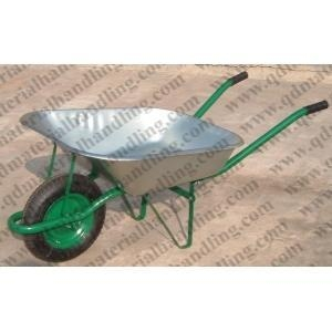 China Popular Russian Market Wheelbarrow with Galvnized Tray on sale