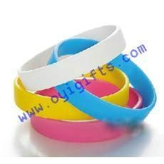 China Silicone bracelets with printing logo on sale