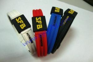 China Titanium sport Silicone wristbands on sale
