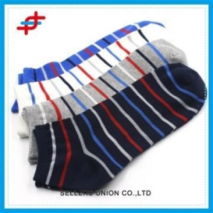 China Quality Cotton Color Match Stripe Young Boy Socks Ankle Socks on sale