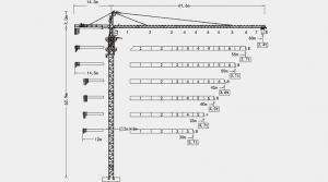 China Luffing Jib Tower Crane Hammerhead Tower Crane , QTZ160 (6024) on sale