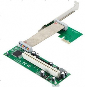 China PCI-E express 1X to PCI 32bits adapter with flex cable on sale