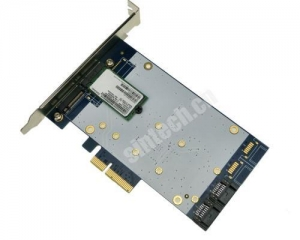 China 4port SATA 3+ NGFF(m.2) PCI-E express X4 Raid Card Marvell 9230 on sale