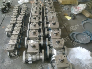 China Metal seated floating ball valve flange type on sale